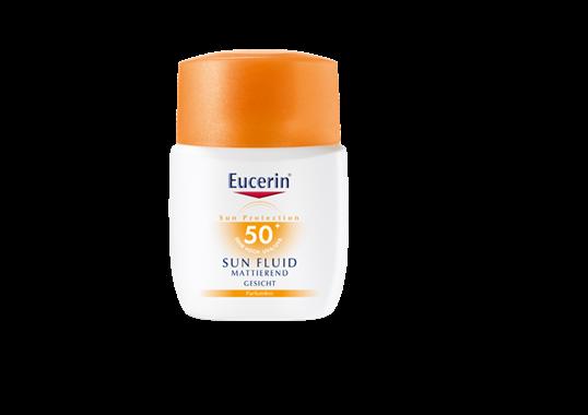 Eucerin matirajući fluid za lice za zaštitu od sunca SPF 50+