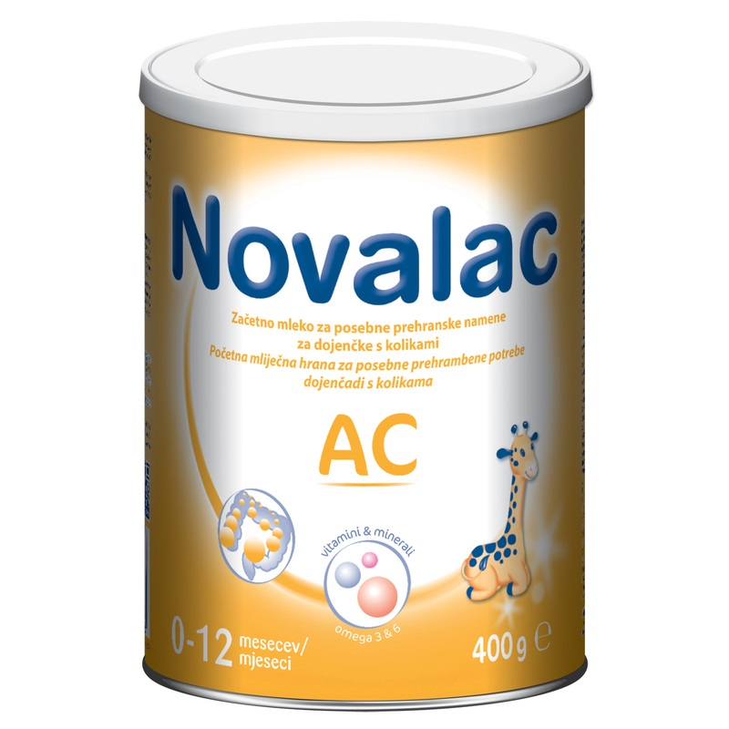 Novalac Ac , početna mliječna hrana za dojenčad sa kolikama