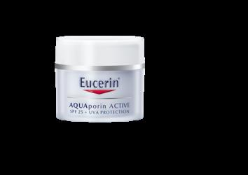 Eucerin AQUAporin ACTIVE krema za lice s faktorom SPF 25 i UV zaštitom za sve tipove kože