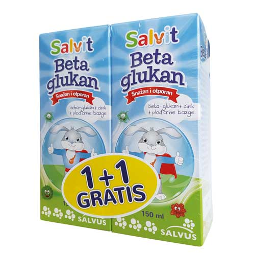 Salvit Beta glukan sirup 1+1 gratis