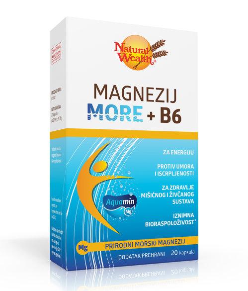 Natural Wealth Magnezij More + B6 kapsule