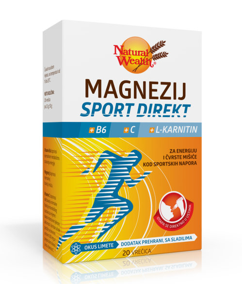 Natural Wealth Magnezij Sport Direkt +B6 +C +L-karnitin