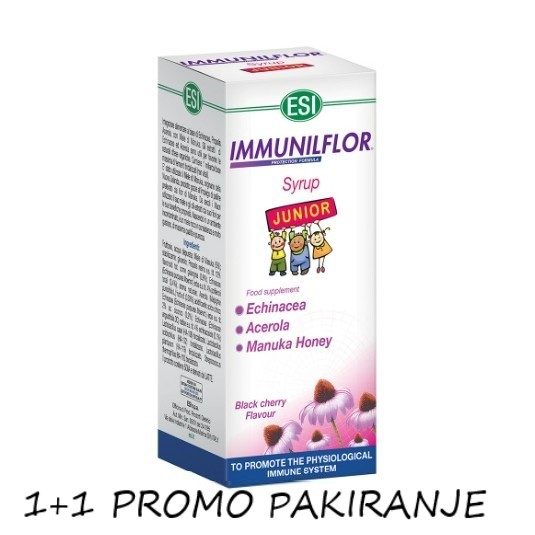 Esi Immunilflor Junior sirup 1+1 promo pakiranje