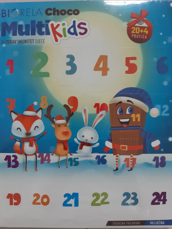 Biorela Choco Multi kids adventski kalendar 24 prutića